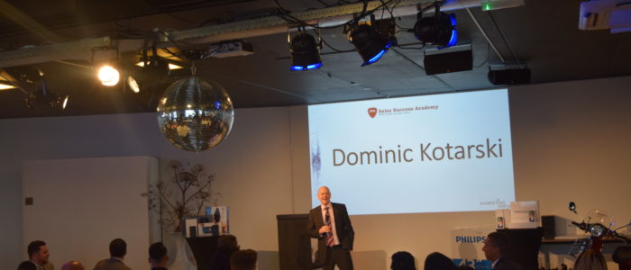 Dominic speaking t event in the Netherlands