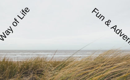 a picture of the dunes with the words the way of life fun and adventure